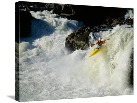 High angle view of a person kayaking in rapid water Poster Print by Panoramic Images 36 x 24