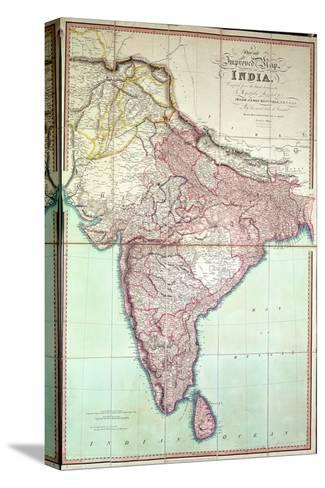Improved map of india published in london 1820 stretched canvas improved map of india published in london 1820 gumiabroncs Choice Image