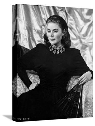 Ingrid Bergman Sitting On A Couch In Black Dress Photo By E Bachrach At Allposters