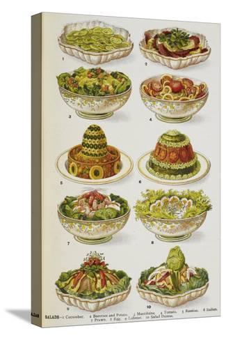 Assorted Salad Dishes Pingotettu canvasvedos