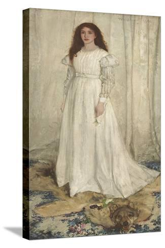 Symphony in White, No. 1: the White Girl, 1862 Kunst op gespannen canvas