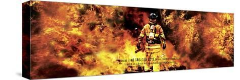 Fireman's Noble Call Stretched Canvas Print