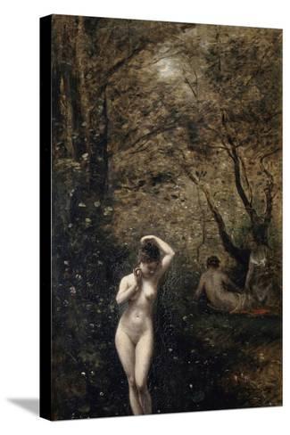 Diana Bathing, 1873-1874 Reproducción de lámina sobre lienzo