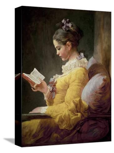 Young Girl Reading Reproducción de lámina sobre lienzo