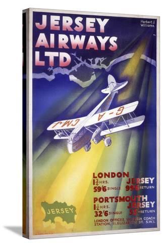 Jersey Airways LTD Stretched Canvas Print