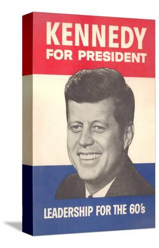 Jfk Election Poster Stretched Canvas Print