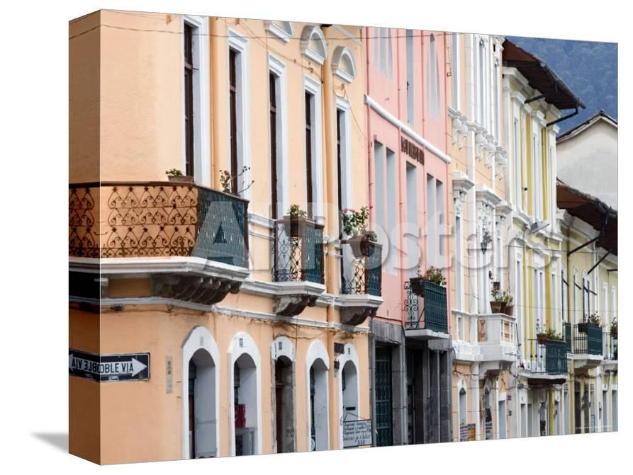Colourful Colonial Architecture Quito Ecuador Photographic Print