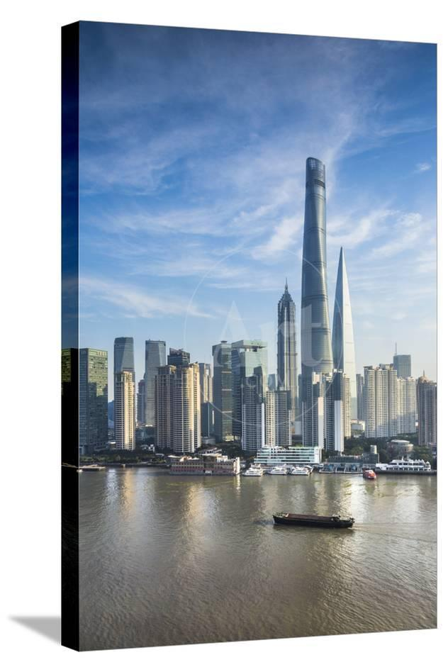 Shanghai Tower And The Pudong Skyline Across The Huangpu River