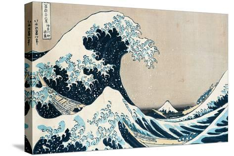 36X24 Katsushika Hokusai The Great Wave Off Kanagawa Canvas Wall Art Picture Print