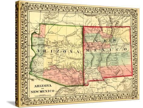 Arizona and New Mexico - Panoramic Map and New Mexico Prints by ...