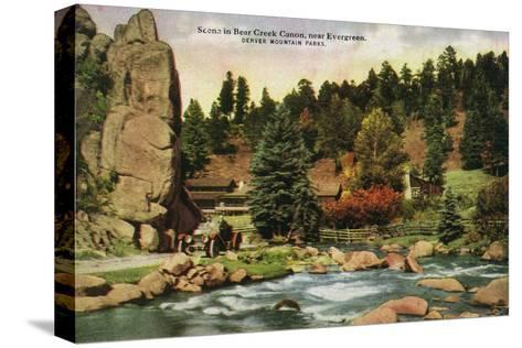 Colorado, Scenic Mountain View in Bear Creek Canyon near Evergreen