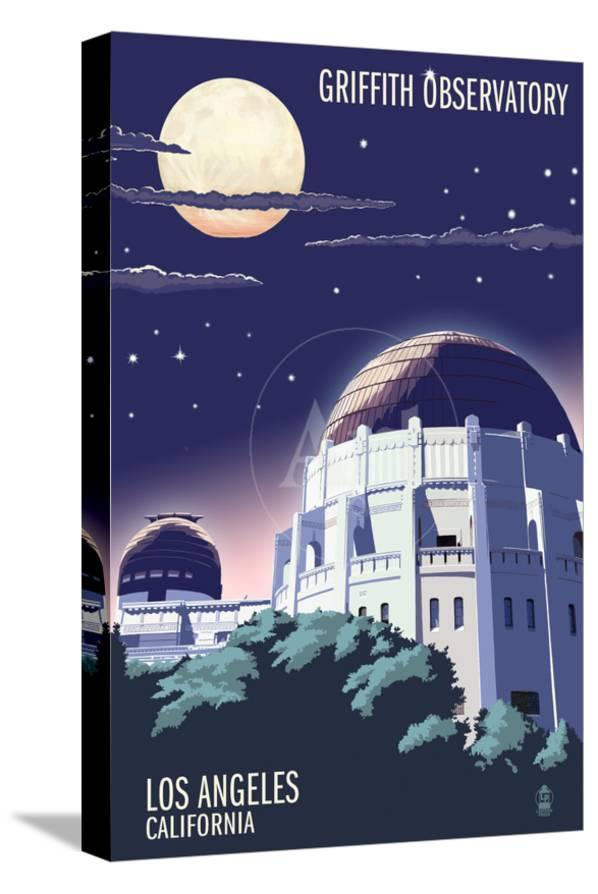 Griffith Observatory At Night Los Angeles California Prints By