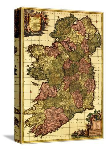 Ireland panoramic map stretched canvas print by lantern press by ireland panoramic map gumiabroncs Gallery