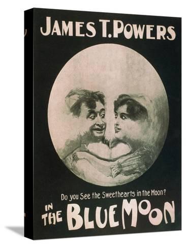 James T. Powers in The Blue Moon Theatre Poster Impressão em tela esticada