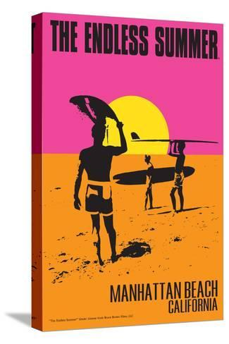 Manhattan Beach, California - the Endless Summer - Original Movie Poster Stampa su tela