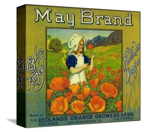 May Orange Label - Redlands, CA Pingotettu canvasvedos