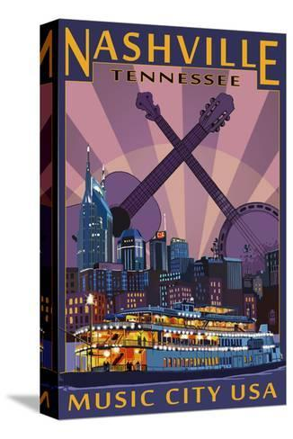 103217 Nashville Neon at Night Photo Art Decor LAMINATED POSTER CA