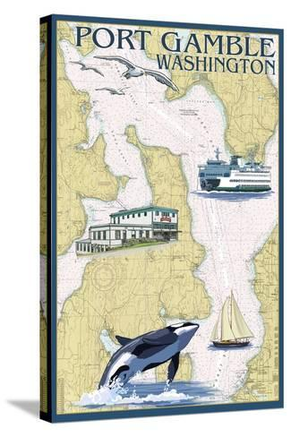 Port Gamble Washington Map.Port Gamble Washington Nautical Chart Prints By Lantern Press At