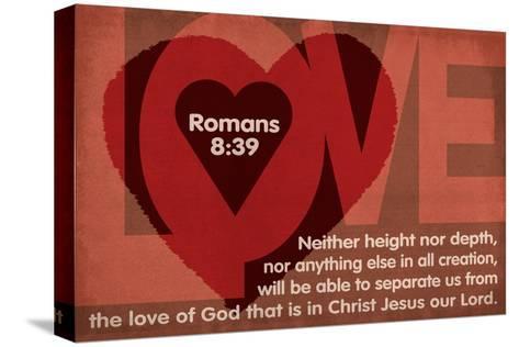 Romans 8:39 - Inspirational Reproducción de lámina sobre lienzo
