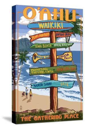 Waikiki, Oahu, Hawaii - Sign Destinations