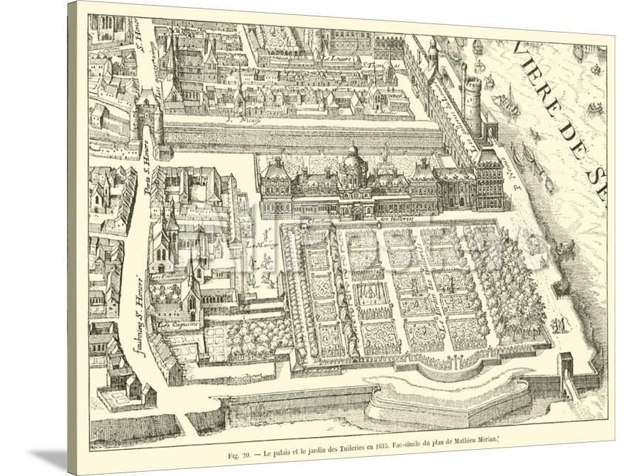 Le Palais Et Le Jardin Des Tuileries En 1615 Fac Simile Du Plan