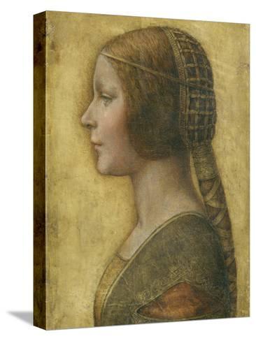 Profile of a Young Fiancee Reproducción de lámina sobre lienzo