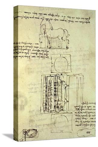 Sketch of a Horse and Various Other Diagrams Reproducción de lámina sobre lienzo