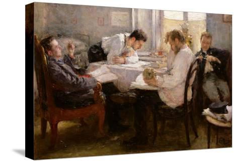 The Night Before the Exam, 1935 Stretched Canvas Print
