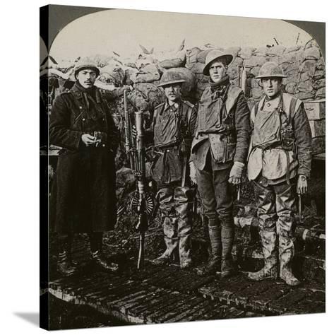 Lewis Machine Gunners, Hollebeke, Belgium, World War I, 1914-1918