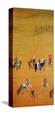 Kublai Khan (1214-94) Hunting, Yuan Dynasty Reproducción de lámina sobre lienzo