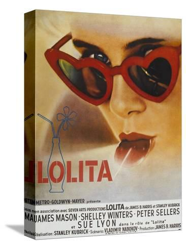 Lolita, Sue Lyon, French Poster Art, 1962 Stretched Canvas Print
