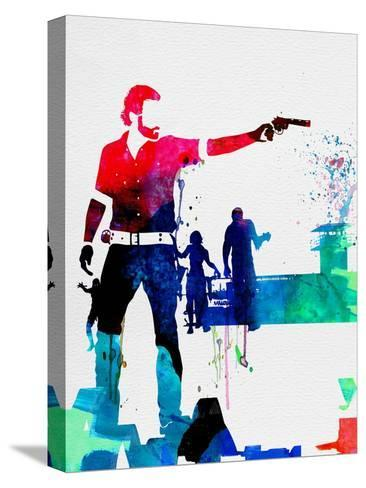 Rick Watercolor Stretched Canvas Print