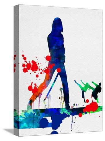 The Bride Watercolor Stretched Canvas Print