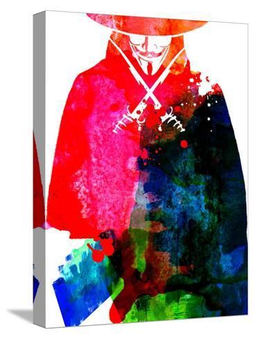 Vendetta Watercolor Sträckt kanvastryck