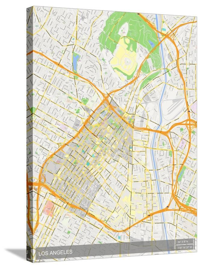 Map Of America Los Angeles.Los Angeles United States Of America Map