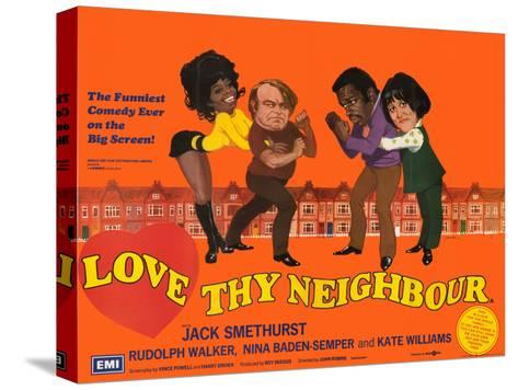 Love Thy Neighbour Stretched Canvas Print
