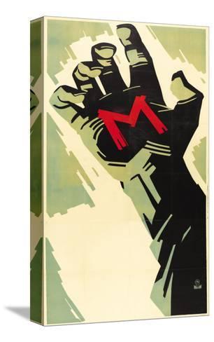 M, German Movie Poster, 1931 キャンバスプリント
