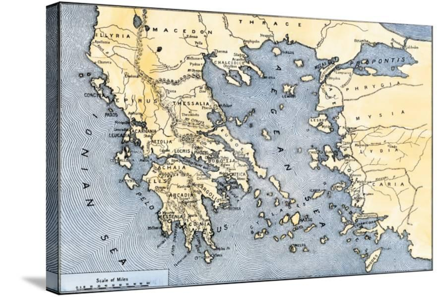 Map Of Ancient Greece And Its Colonies Giclee Print At Allposters Com