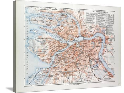 Map Of St Petersburg Russia 1899 Giclee Print At Allposters Com