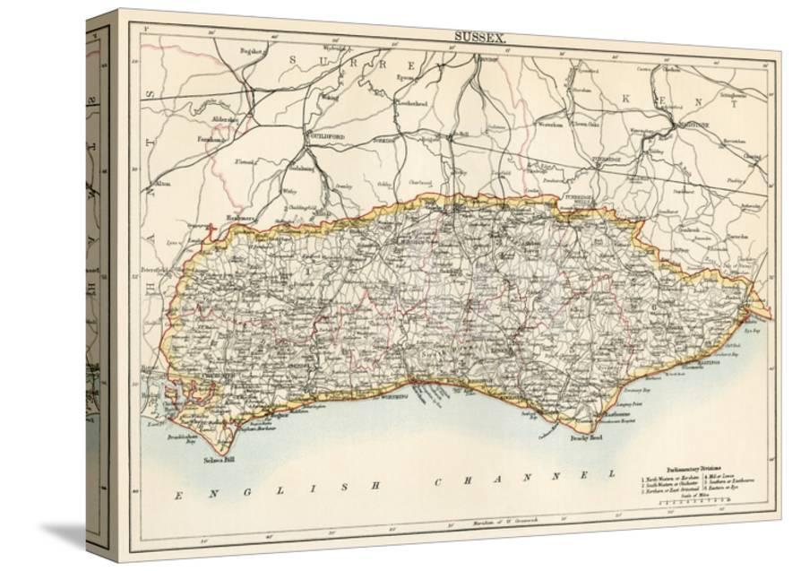 Map Of Sussex England 1870s Giclee Print At Allposters Com