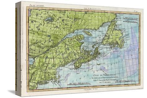 Map of the East Coast of North America from New York to