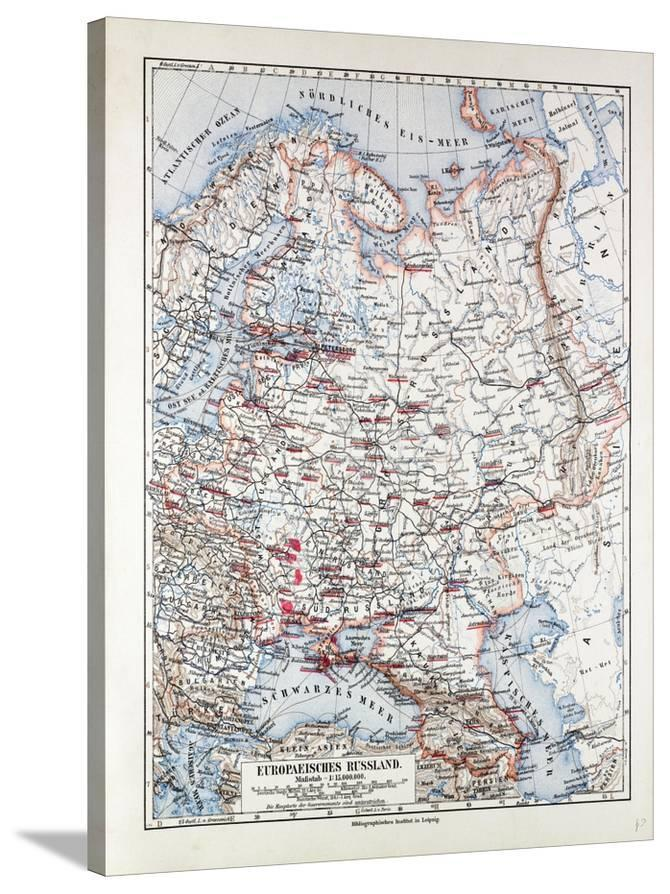 Map of the European Part of Russia 1899 Giclee Print at AllPosters.com