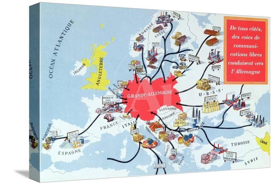 Map Of Germany 1940.Map Of The Great Germany 1940 45