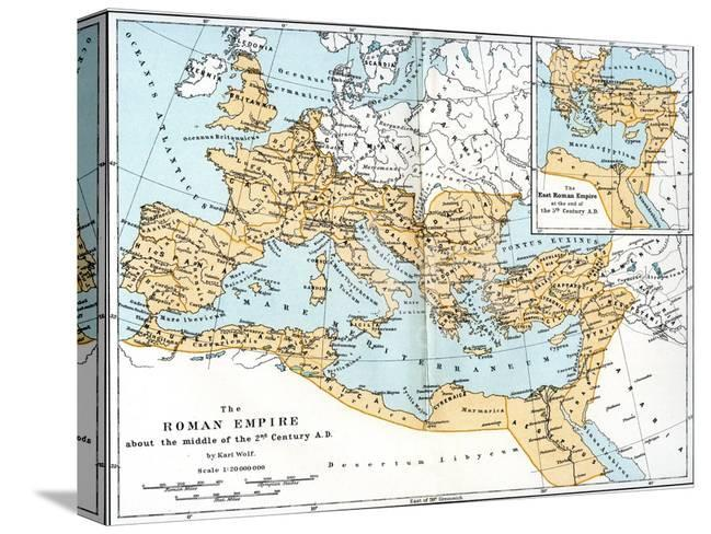 Map Of The Roman Empire 2nd Century Ad Giclee Print At Allposters Com