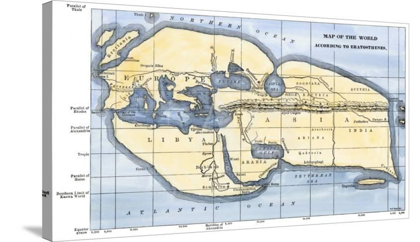 Map of the World According to Ancient Greek Geographer