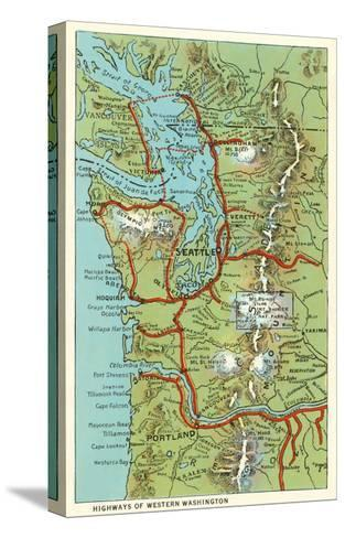 Map of Western Washington Prints at AllPosters.com