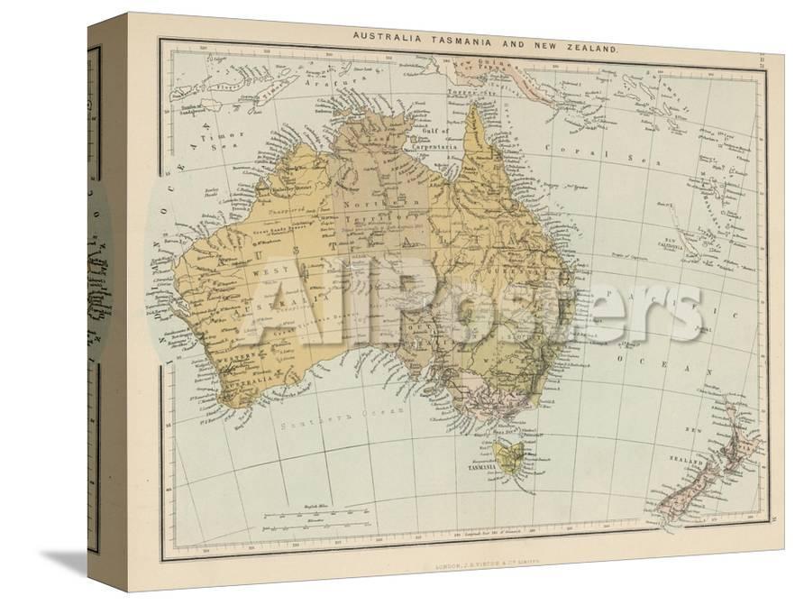Map Australia Tasmania.Map Showing Australia Tasmania New Zealand And Neighbouring Islands