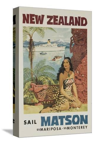 20x30 1950s New Zealand Maori Girl Vintage Style Travel Poster