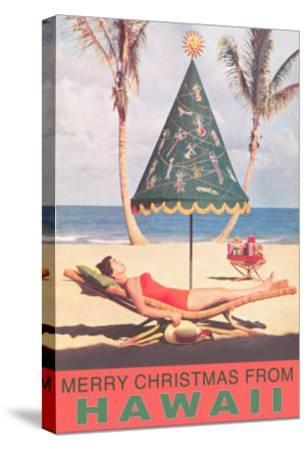 merry christmas from hawaii conical umbrella on beach photo at allposterscom - Merry Christmas Hawaii