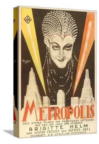 Metropolis, Swedish Movie Poster, 1926 Impressão em tela esticada
